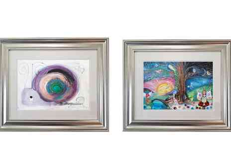 Whalley Fine Art - 16 Inch x 20 Inch Valentina the Snail or 18 Inch x 24 Inch Snail Fairyland Print by Dawn Crothers - Save 73%
