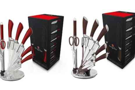 Groupon Goods Global GmbH - Eight Piece Stainless Steel Knife Block Set - Save 82%