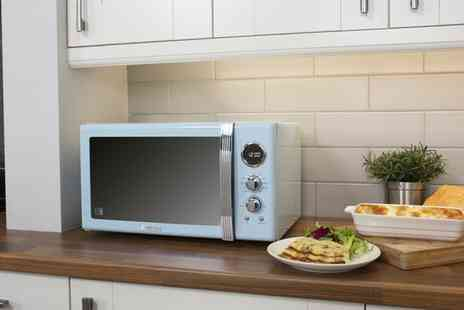 Groupon Goods Global GmbH - Swan Retro 25L Digital Combi Microwave With Grill in Choice of Colour With Free Delivery - Save 48%