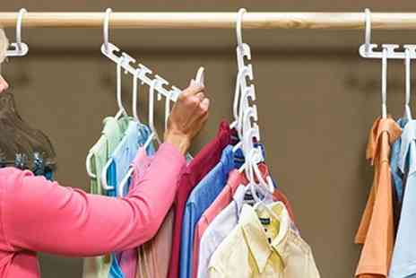 Groupon Goods Global GmbH - Eight or 16 Multiple Space Saving Hangers - Save 72%
