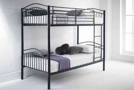 Groupon Goods Global GmbH - Capri Bunk Bed with Optional Mattresses With Free Delivery - Save 67%