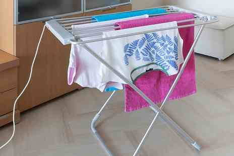 Groupon Goods Global GmbH - Heated Folding Clothes Airer - Save 66%
