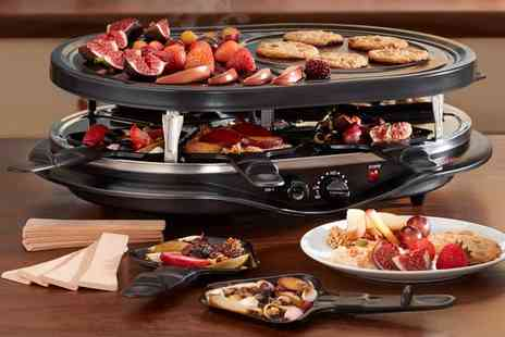 Groupon Goods Global GmbH - Cooks Professional 8 or 12 Person Raclette Grill in Choice of Design - Save 63%