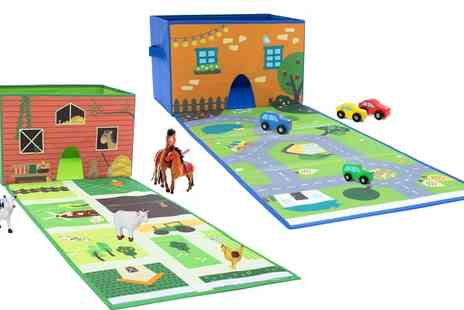 Groupon Goods Global GmbH - House of Kids Two in One Play and Store City or Farm Mat - Save 0%