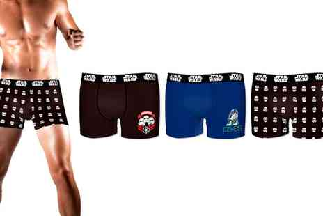 Groupon Goods Global GmbH - Star Wars Mens Cotton Boxer Shorts Three Pack - Save 63%