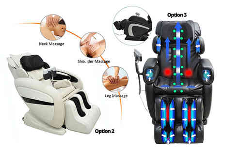 Mhstar - Full body massage and heat chair And Black Zero Gravity full body massage chair - Save 80%