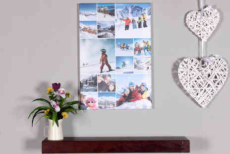 Your Perfect Canvas - A1 collage canvas choose your favourite photos - Save 83%
