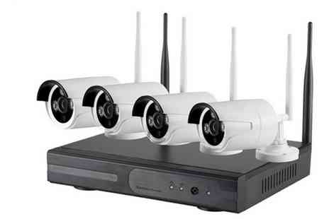 Groupon Goods Global GmbH - Four Camera HDMI CCTV System with Optional 500GB HDD With Free Delivery - Save 64%