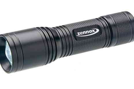 Groupon Goods Global GmbH - 500 Lumens Heavy Duty Aluminium Zoomable Torch - Save 71%