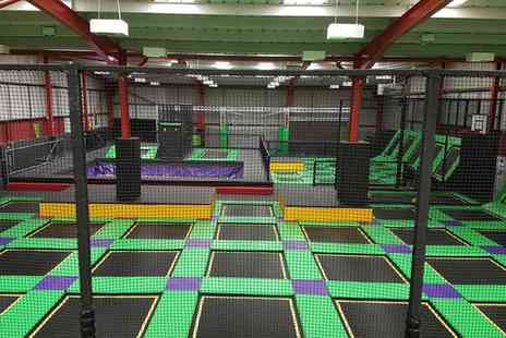 Jump Ninja - One Hour Trampoline Jumping Session for Two or Three - Save 33%