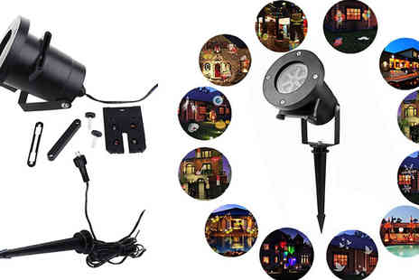 Black Sheep - 12 Slide Festive Themed Light Projector - Save 73%