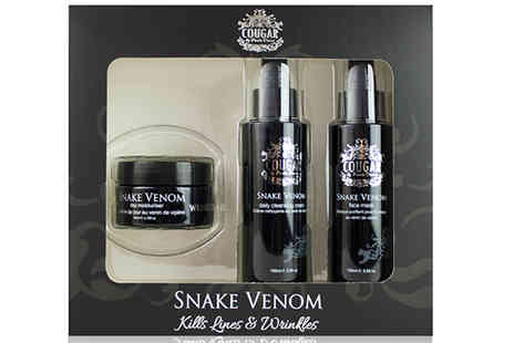 Cougar Beauty Products - Three Piece Snake Venom Skin Care Set - Save 39%