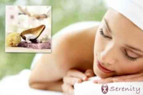 Serenity - Full Body Massage or Facial For Two With Foot Spa, Sauna and Lunch - Save 62%
