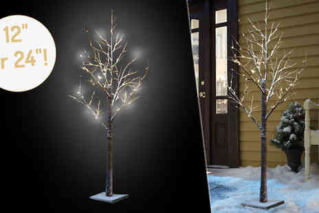 Direct 2 public - Snow Covered Led Blossom Tree With Two Sizes - Save 60%