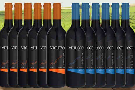 Fenix Deals SL - Luxury 12 Bottle Collection of Merlot and Pinot Noir - Save 58%
