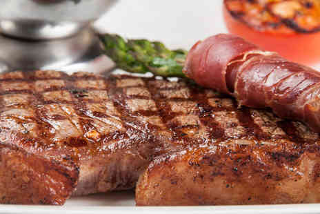 Hickory Steakhouse - Sirloin steak and glass of wine each for two people - Save 51%
