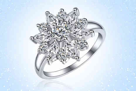 Your Ideal Gift - Marquise created sapphire ring choose from four sizes - Save 88%