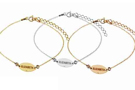 Jewells House - One, Two or Three Personalised Silver Bracelets With Free Delivery - Save 69%
