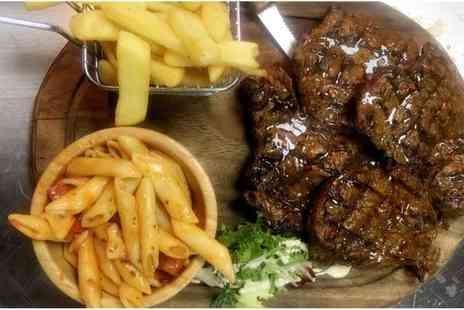 Ibrahims Grill and Steak House - Steak with Side and Free Flowing Soft Drinks for Two or Four - Save 35%