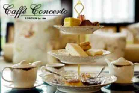 Caffe Concerto - Afternoon Tea For Two With Prosecco - Save 61%