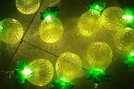 Direct 2 public - Set of Two Pineapple Fairy Light Garlands - Save 75%