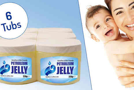 Direct 2 public - Six Jumbo Tubs of Petroleum Jelly - Save 83%