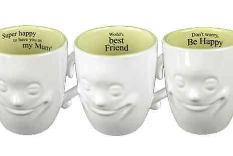 Direct 2 public - Smiley Face Mugs With Quotes Choose 14 Designs - Save 83%