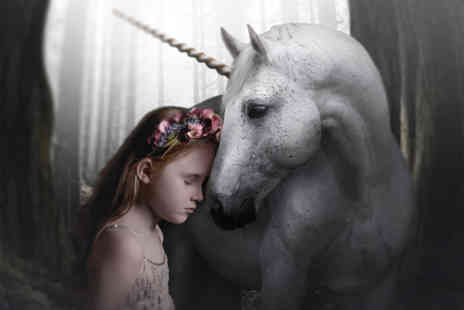 Mackney Photography - Magical unicorn photoshoot for one with a mug and two keyrings - Save 93%