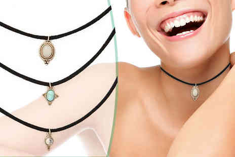 Marcus Emporium - Three Turquoise Chokers - Save 83%