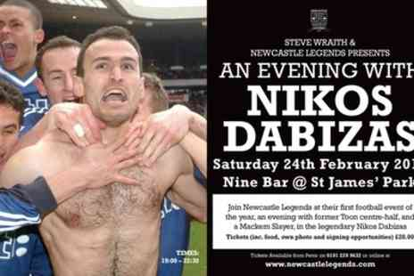 Newcastle Legends - Ticket to An Evening with Nikos Dabizas on 24 February, Nine Sports Bar & Lounge - Save 32%