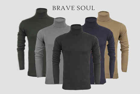 Marsel Holdings - Mens cotton roll neck jumper choose from five colours - Save 68%
