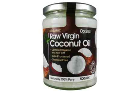 Groupon Goods Global GmbH - Optima One or Two Jars of 500ml Organic Raw Virgin Coconut Oil - Save 20%
