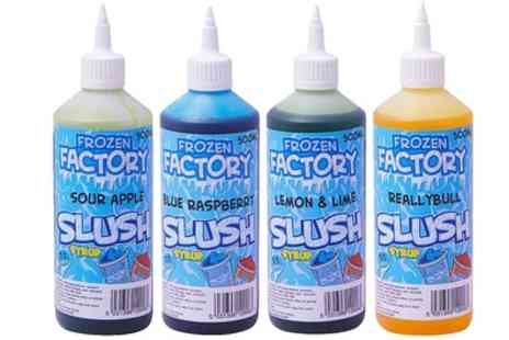 Groupon Goods Global GmbH - Three or Six 500ml Bottles of Vivo Slushy or Milkshake Syrup - Save 73%