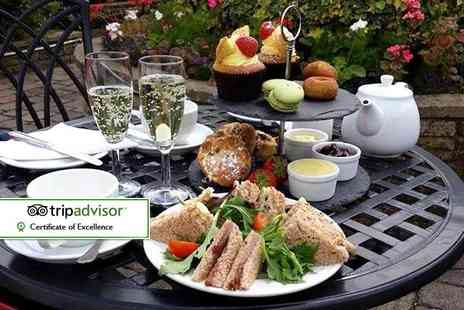 Park Head Hotel - Afternoon tea for two or four including a glass of sparkling wine each or include a glass of sparkling wine - Save 55%