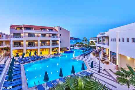 Bargain Late Holidays - Up to 7 Night All Inclusive Stay at 5 Star Porto Platanias Beach Resort & Spa with Return Flights - Save 0%