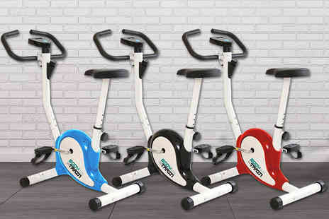 Games & Fitness - Velocity Blitz compact exercise bike choose from three colours - Save 68%