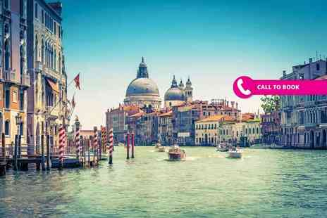 Super Escapes Travel - Four night Rome and Venice break with two nights in each destination, train transfers, flights, and breakfast - Save 65%