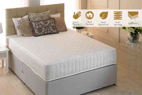 Midnight Dreams - Cool touch quilted spring mattress choose from four sizes - Save 83%
