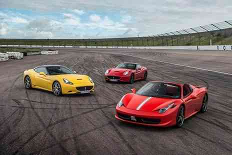 Buyagift - Triple supercar driving blast experience get behind the wheel of a Porsche, Ferrari or Lamborghini - Save 0%