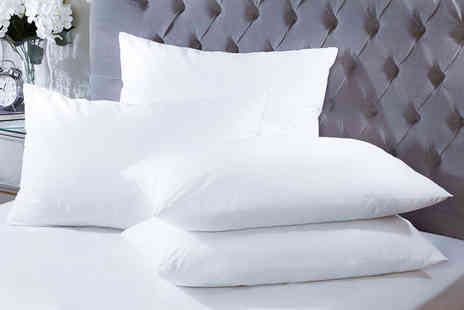 EHome Store - Four duck feather hotel quality pillows - Save 85%