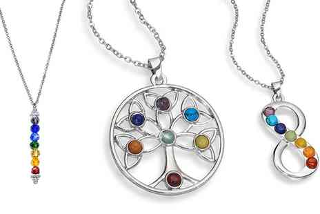 Groupon Goods Global GmbH - Chakra Stacking Drop, Tree of Life or Infinity Necklace - Save 82%