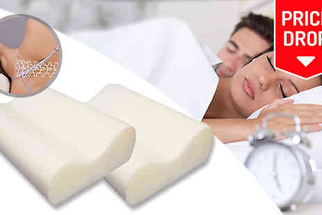 Mscomputers - Anti Snore Memory Foam Pillows - Save 78%