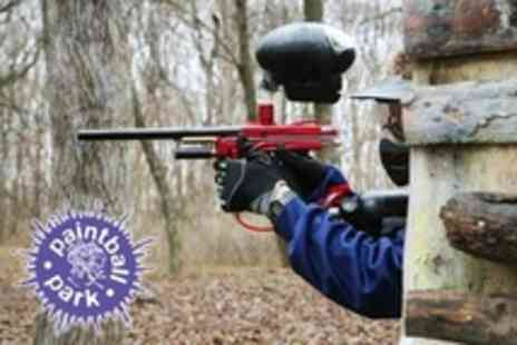 Paintball Park - Paintballing With 100 Paintballs and Lunch Each For Ten People - Save 84%
