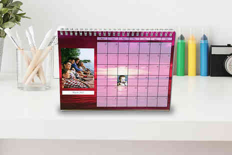 uPhotogifts - A5 personalised desk calendar - Save 44%