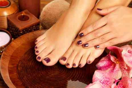 Era Hair and Beauty - Shellac Manicure, Pedicure or Both - Save 60%