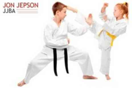 JJBBA Martial Arts - Nine Lessons Plus Uniform and First Belt For Two - Save 85%