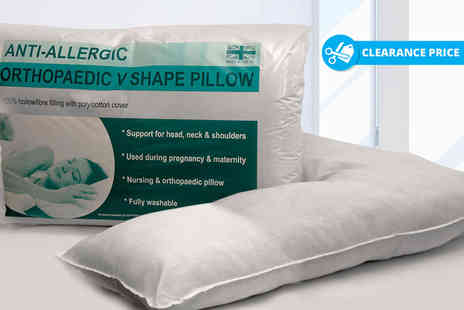 Home Furnishings Company - One or two orthopaedic V shape pillow - Save 80%