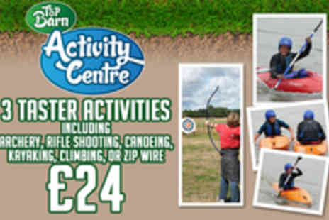 Top Barn Activity Centre - Three activity taster sessions - Save 77%