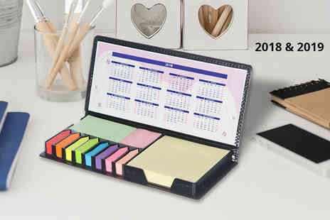 Spot Promotions - Sticky note memo pad pack with sticky notes, tabs and 2018 or 19 calendar - Save 67%