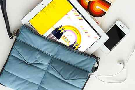 Groupon Goods Global GmbH - Quilted Bag Organiser Bag with Multiple Pockets and Compartments for Electronics Accessories, iPad, iPhone or Tablet - Save 80%